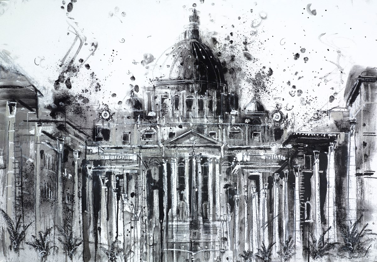 St Peter's Basilica, Rome by tim steward -  sized 39x28 inches. Available from Whitewall Galleries